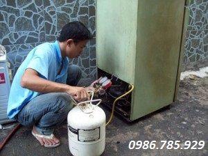 sửa tủ lạnh không lạnh do thiếu gas