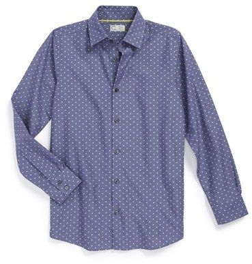 C2 by Calibrate 'Bruce' Diamond Print Dress Shirt (Big Boys)
