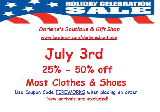 July 3rd sale