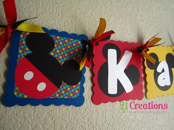 Mickey+Mouse+Name+Banner+by+21Creations+on+Etsy,+$18.00