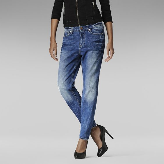 G-Star RAW | Frauen | Jeans | 3301 Tapered Jeans , Light Aged Destroy