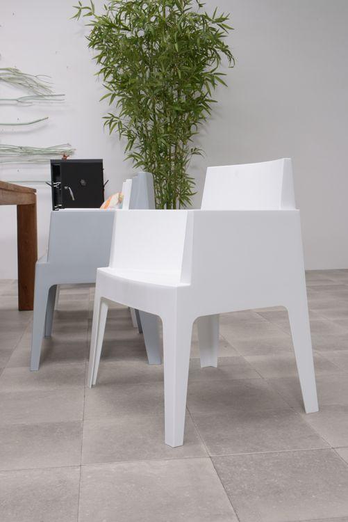 Design Kunststof Stoelen.Box Tuinstoel The Original Wit In 2020 Tuinstoelen Stoelen En