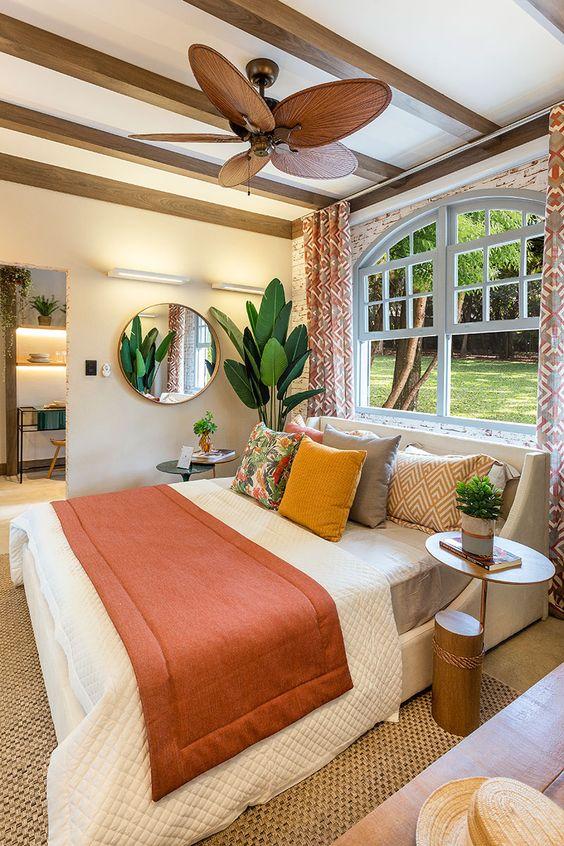 decoração rústica para quarto pequeno
