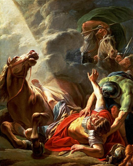 The Conversion of St.Paul.   1767.  Nicolas Bernard Lepicie. French 1735-1784. oil/canvas.