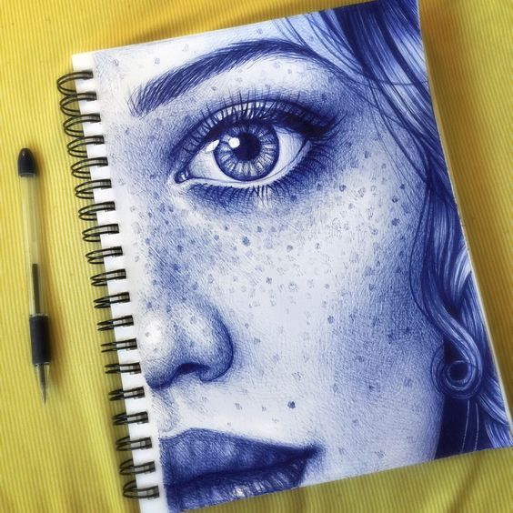 Morgan Davidson. Ballpoint pen doodle from my head.