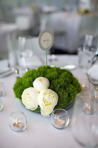 Love this modern centerpiece asymmetrical clean simple