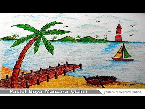 Pastel Boya Manzara Cizimi Pastel Deniz Manzarasi Calismasi Pastel Paint Scenery Drawing Videolu Ruya Tabirleri 2020 Tablolar Cizim Egitimleri Drawing