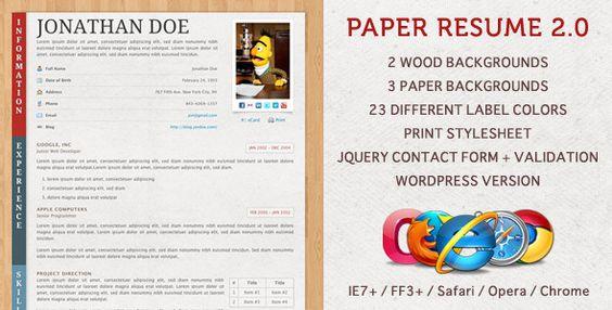 31 best Website Resume Templates images on Pinterest A more - best resume websites