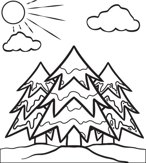 Coloring Pages Winter Trees Trend