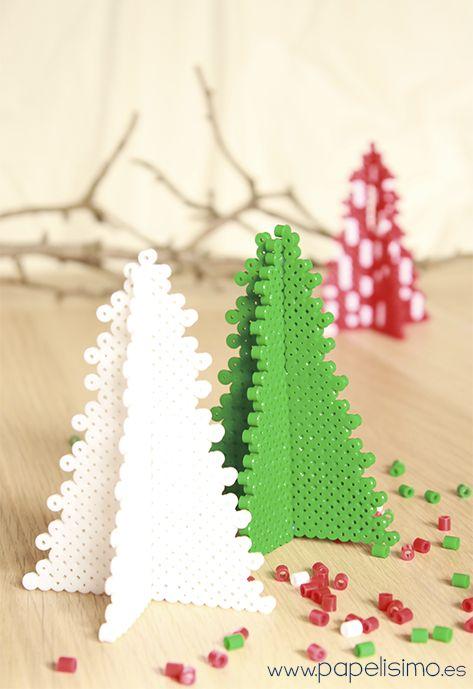 C mo hacer rbol 3d de navidad con tubitos tipo hama - Crear christmas de navidad ...