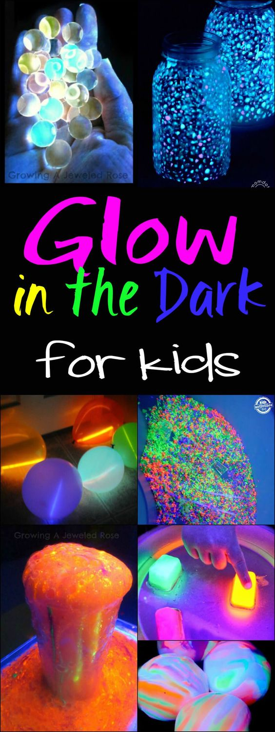 glow in the dark ideas for kids fun crafts and activities