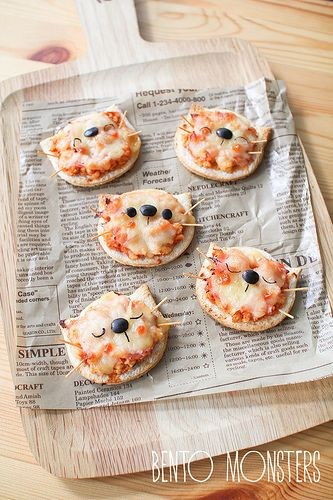 Mini Kitty Pizza Bento Monsters