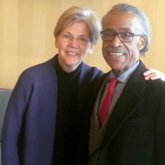 Image result for sharpton liz warren