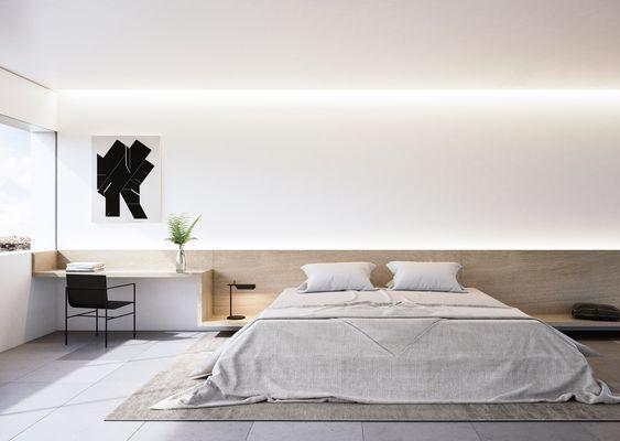 コーニス照明 寝室 コーディネート例