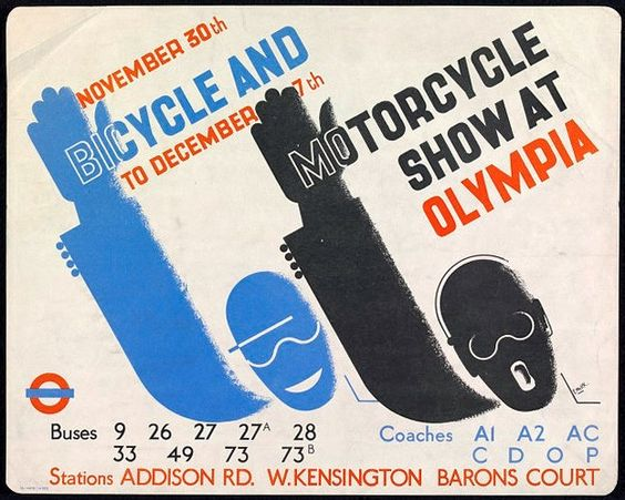 Edward McKnight Kauffer. Bicycle & Motorcycle Show 1935