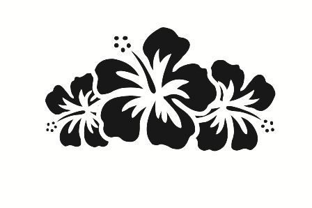 Hibiscus Flower Car Decal 3 Nature Decal Car Decals Hibiscus Flowers