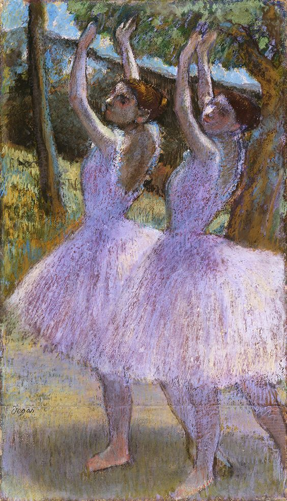 Female Dancers in Violet Skirts, their arms raised, c.1895-8 | The Fitzwilliam Museum
