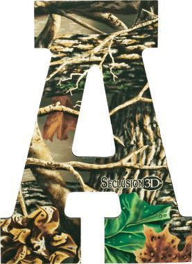 Camo letters wall art chi omega boy rooms and baby boy for Cabela s tackle craft catalog