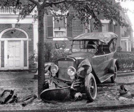 Vintage car wreck