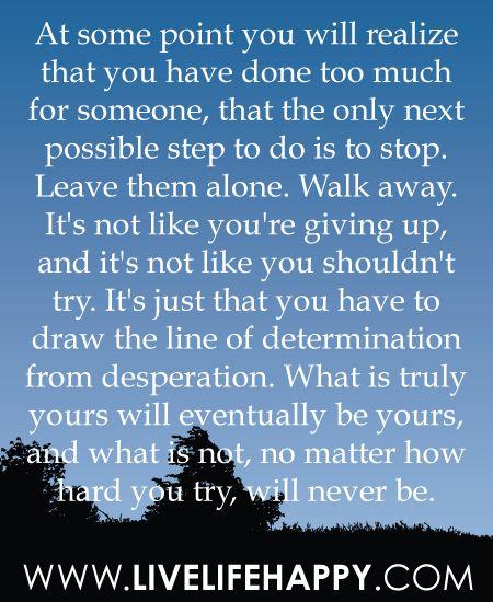 determination from desperation!! :D