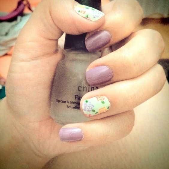 Mis uñas de hoy :3