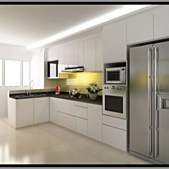 Whole kitchen renovation resale flat hdb woon ideetjes pinterest shape flats and home Kitchen design in hdb