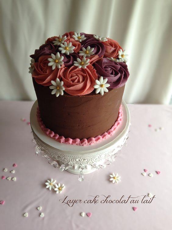 Layer cake chocolat au lait