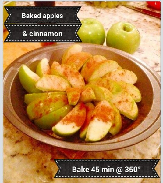 Saba 60 approved baked apples! Add cinnamon only. Bake 45 minutes at 350°! Yummy!!