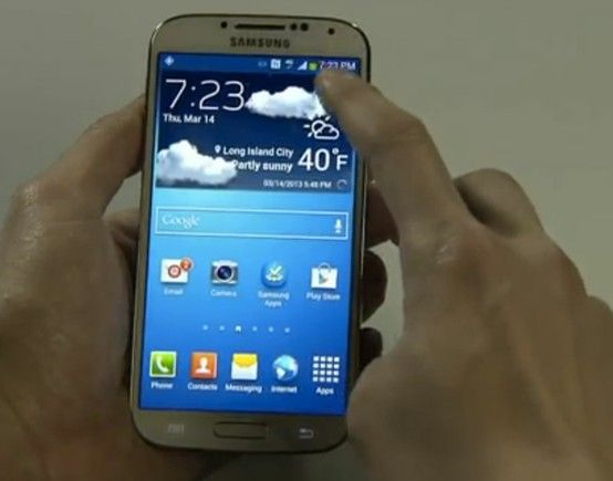 Say hello to the official Samsung Galaxy S4.