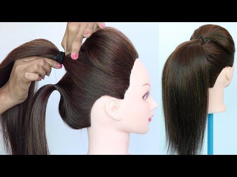 Volumized High Ponytail With Puff Using Clutcher Ponytail Trick Everyday Hairstyle Hairstyl Ponytail Trick High Ponytail Hairstyles Everyday Hairstyles