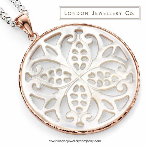 Rose #Gold #Pendant with Mother of #Pearl