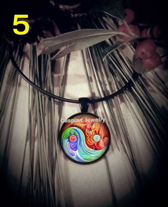 Ying Yang Black Fashion Pendant Necklace