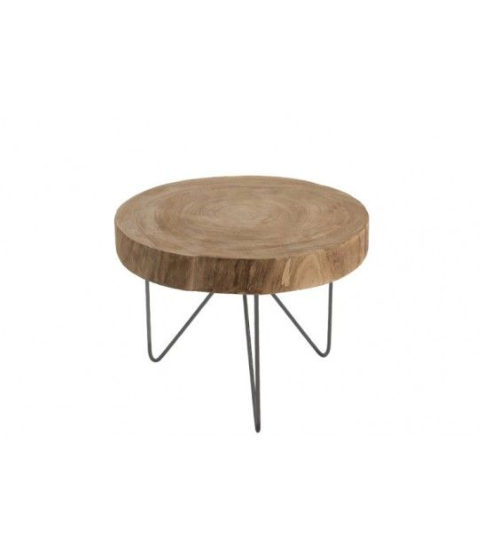 Table D Appoint En Bois Et Metal Diametre 42cm Table D Appoint En Bois Table Basse Table Basse D Appoint