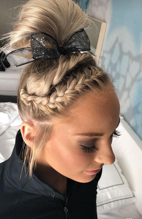 Mykayla Skinner University Of Utah Gymnastics Competition Hair Athletic Hairstyles Gymnastics Hair