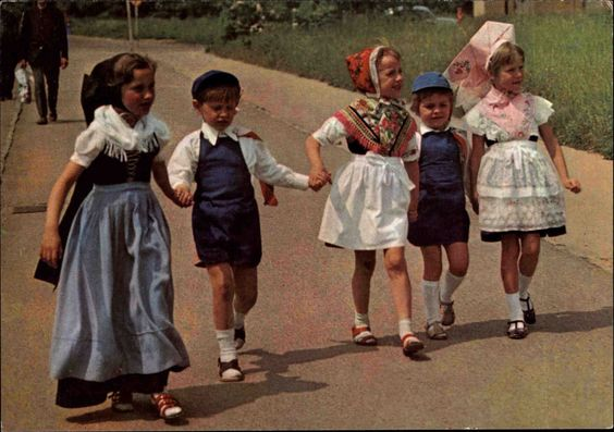 1979, Kinder in Tracht Sorbisches
