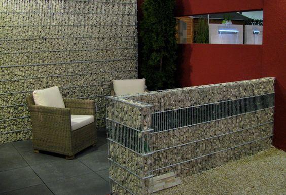 Gaviones decorativos gaviones piedra gaviones interior - Muros de piedra natural ...