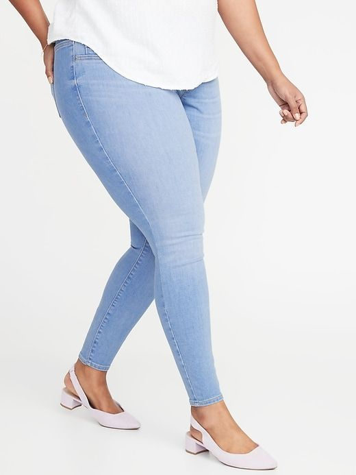 Old Navy High Waisted Plus Size Pull On Rockstar Jeggings High Waist Jeggings Old Navy Light Blue Jeans