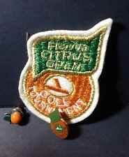 Florida Citrus Open Golf Tournament Volunteer Patch And Pins 1970's Vintage