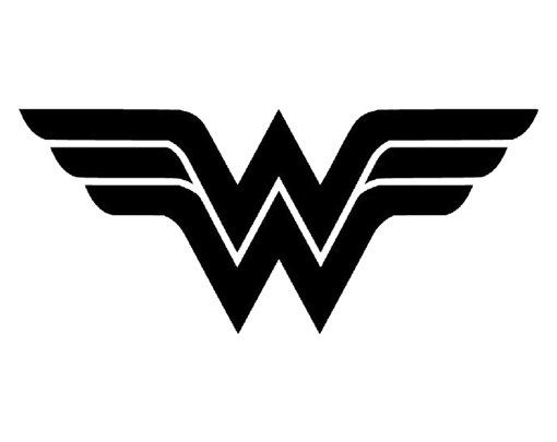 DC Comics Wonder Woman Logo Muster Black and white