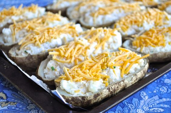 Stuffed baked potatoes, Baked potatoes and Potatoes on Pinterest