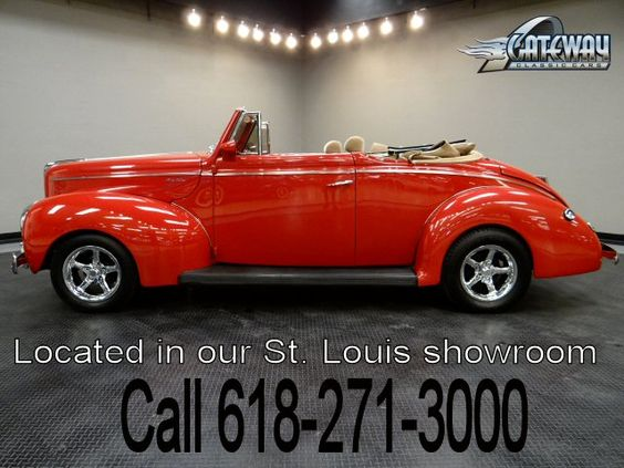 1940 Ford Convertible   - Stock #5385-STL