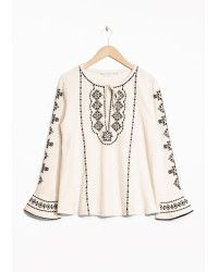 & Other Stories | White Embroidery Linen Blouse | Lyst