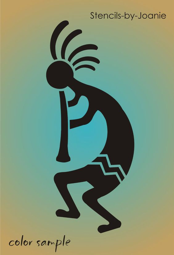 (1) New Stencil shape #S167(A-G) ~ Reversible Southwestern favorite,Kokopelli Flute Dancer brings Spirit of Music, paint your own Native American, Aztec and Desert themed home decor with reusableStencils-by-Joanie.   eBay!
