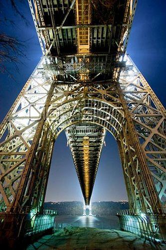 NYC. George Washington bridge, connecting New Jersey to Manhattan