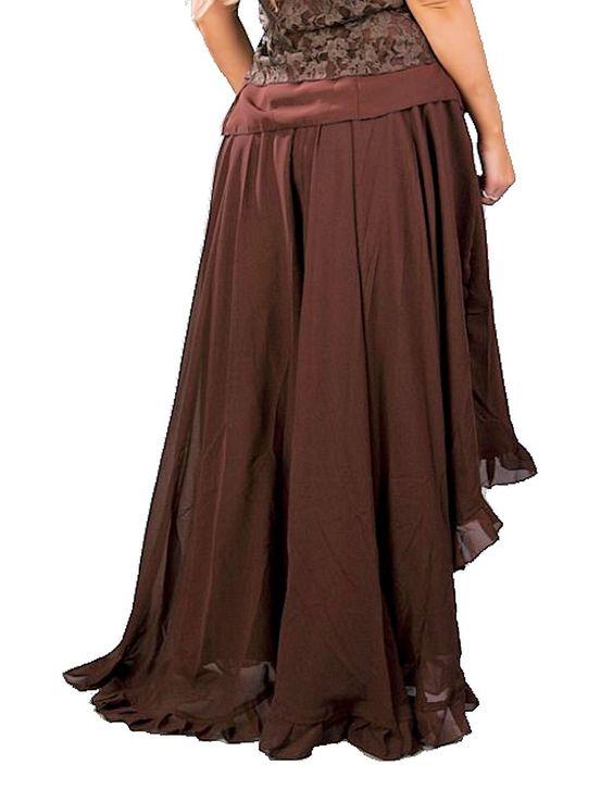 Brown long Steampunk skirt