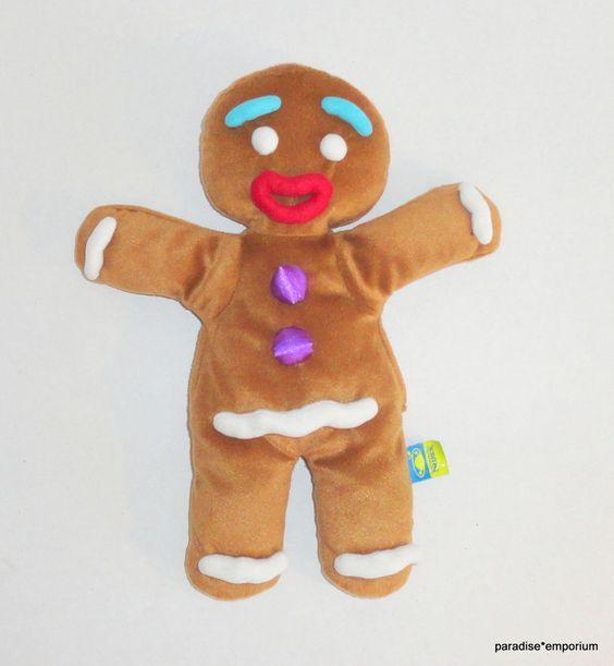 "Shrek 14"" Gingy Plush Gingerbread Man Hand Puppet #toys #stuffedanimals"