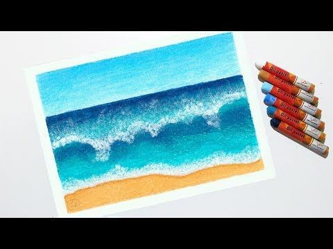 30 God Level Oil Pastel Drawings Sunset Painting Wave Painting Acrylic Painting Canvas