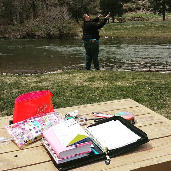 Sometimes I wonder how is this my life? I get to sneak out of town with my love relax and bible journal by the river while he does some fishing....just total peace. I still remember the days I prayed for the things that I have now. My heart is so full and so thankful. #marriedlife #birdiencakes #glorytoyouLord #listsbyfaith #illustratedfaith #biblejournaling #pagosasprings #crafty #ilovebeingmarried #answeredprayer by nomorepinkcupcakes
