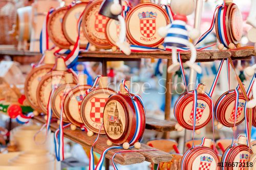 Croatian Souvenirs Wooden Canteens Buy This Stock Photo And Explore Similar Images At Adobe Stock Canteens Wooden Stock Photos