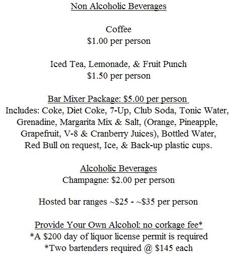 Beverage Info